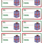 Printable Colored Present Gift Tags