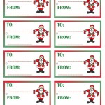 Printable Colored Santa 1 Gift Tags