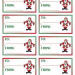 Printable Colored Santa 1 Gift Tags