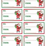 Printable Colored Santa 2 Gift Tags