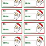 Printable Colored Santa Face Gift Tags