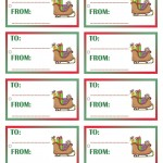 Printable Colored Sled Gift Tags