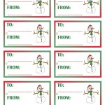 Printable Colored Snowman Gift Tags