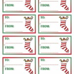 Printable Colored Stocking Gift Tags