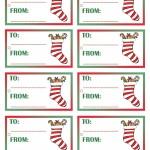Printable Colored Stocking Gift Tags