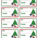 Printable Colored Tree Gift Tags