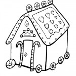 Printable B&W Gingerbread House 2