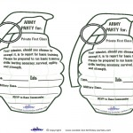 Printable Grenade Invitations