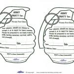 Printable Grenade Invitations