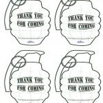 Printable Grenade Thank You Cards