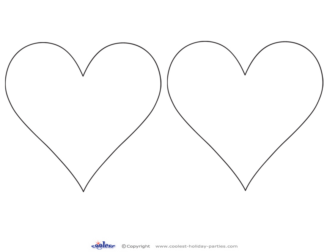 Printable heart cut out 2 download printable pronofoot35fo Images