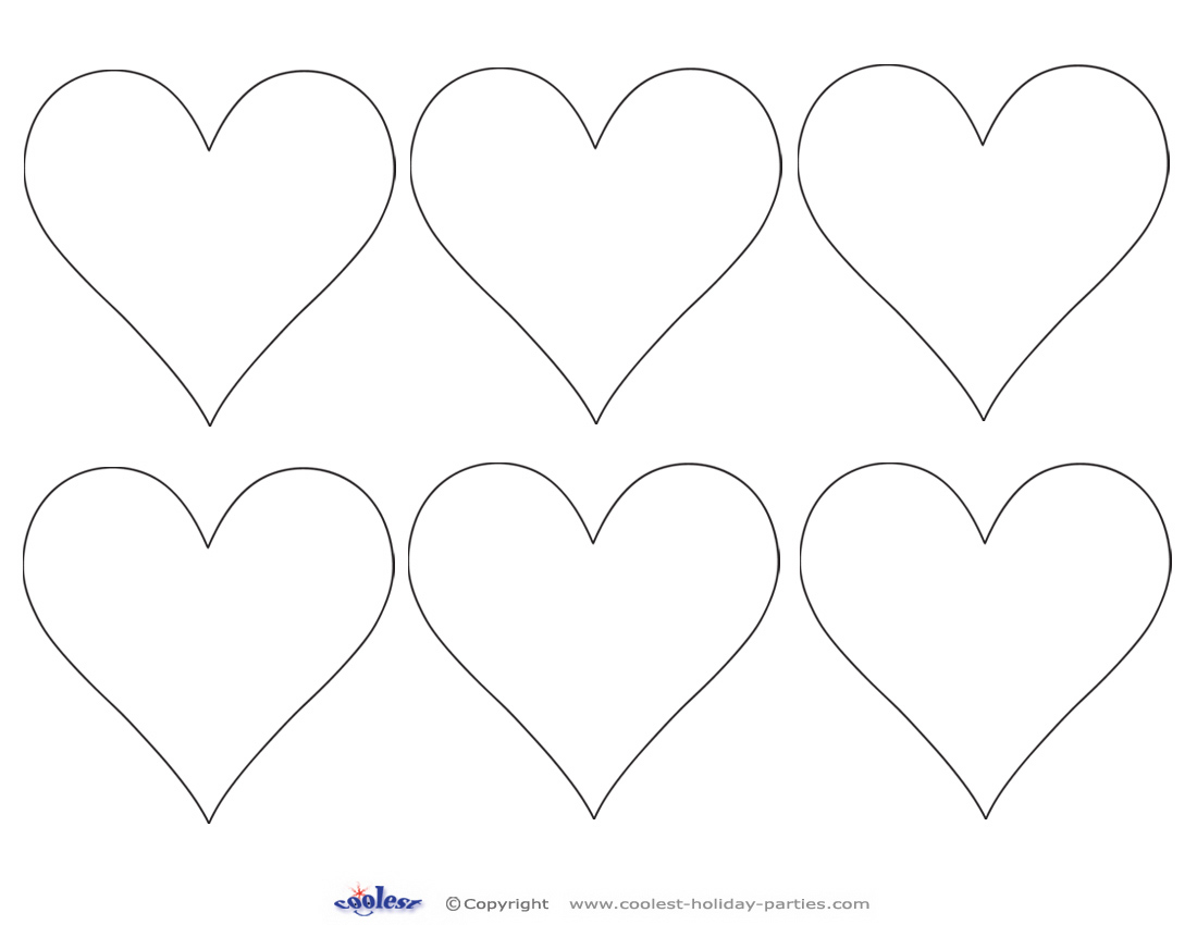 Printable Heart Cut Out 4