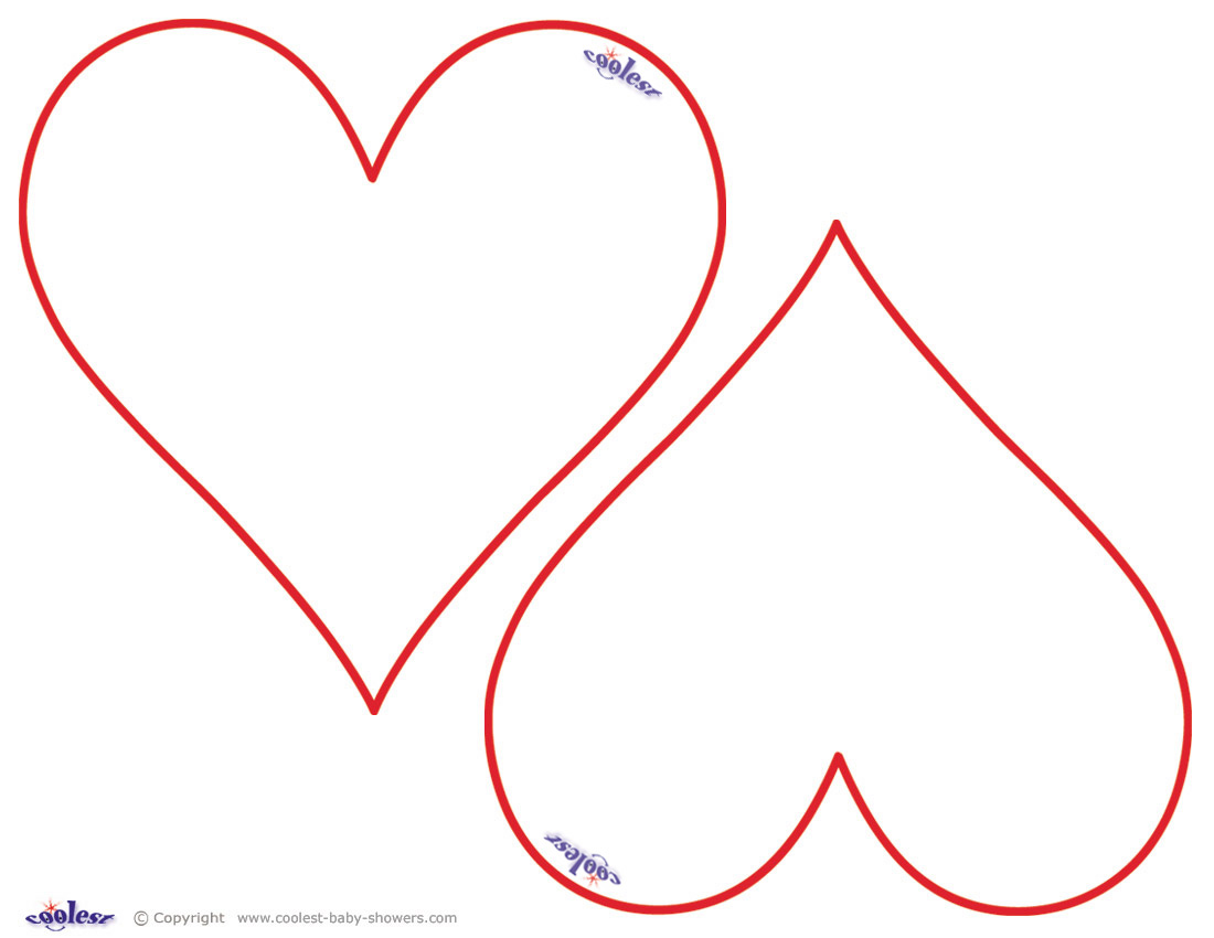 Heart Shape Printable New Calendar Template Site