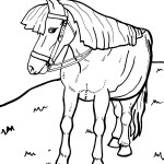 Printable Horse Coloring Page 1