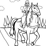 Printable Horse Coloring Page 3