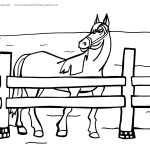 Printable Horse Coloring Page 6