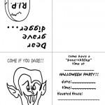 Printable B&W Dracula Invitation