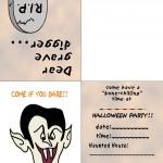 Printable Colored Dracula Invitation