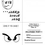 Printable B&W Eyes 1 Invitation