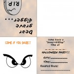 Printable Colored Eyes 1 Invitation