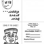 Printable B&W Frankenstein Invitation