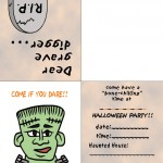 Printable Colored Frankenstein Invitation