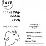 Printable B&W Ghost Invitation