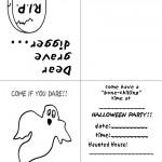 Printable B&W Ghost Invitation