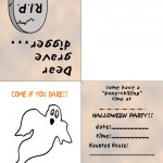Printable Colored Ghost Invitation