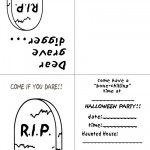 Printable B&W Gravestone Invitation