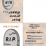 Printable Colored Gravestone Invitation
