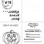 Printable B&W Pumpkin 1 Invitation