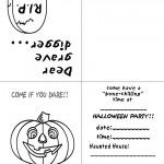Printable B&W Pumpkin 1 Invitation