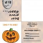 Printable Colored Pumpkin 1 Invitation