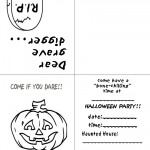 Printable B&W Pumpkin 2 Invitation