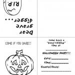 Printable B&W Pumpkin 2 Invitation