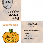 Printable Colored Pumpkin 2 Invitation