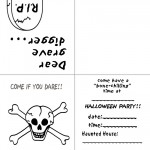 Printable B&W Skull Invitation