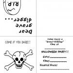 Printable B&W Skull Invitation