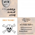 Printable Colored Skull Invitation