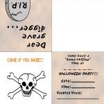 Printable Colored Skull Invitation