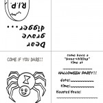 Printable B&W Spider Invitation