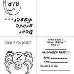 Printable B&W Spider Invitation