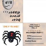 Printable Colored Spider Invitation
