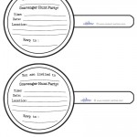 Printable Magnifying Glass Scavenger Hunt Invitations