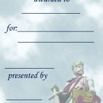 Printable Knight Certificate