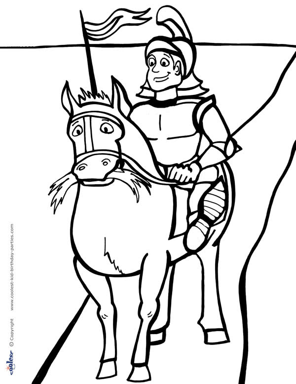 Printable Knight Coloring Page 1