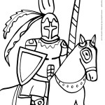 Printable Knight Coloring Page 3