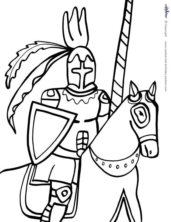 Printable Knight Coloring Page 3 - Coolest Free Printables