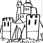 Printable Medieval Castle Coloring Page